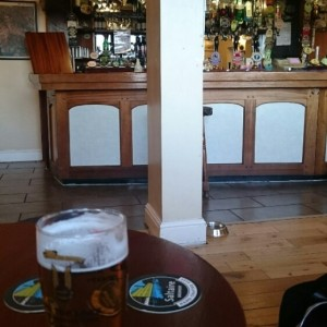 Beer inside The Swan, Ulverston