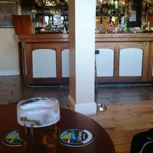Beer inside The Swan, Ulverston