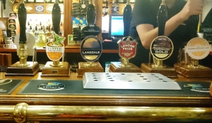 The bar at the Devonshire Arms, Ulverston