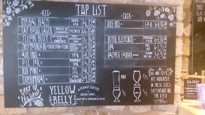Buxton Tap House - beer list