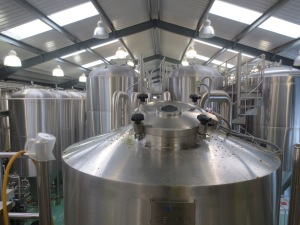View of inside Thornbridge Brewery