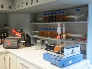 Testing lab at Thornbridge Brewery