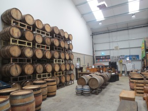 New beer 'Serpent' ageing in bourbon barrels at Thornbridge Brewery