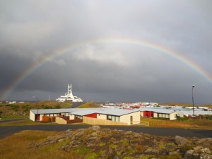 View across Stykkisholmur from Hotel Stykkisholmur, Iceland