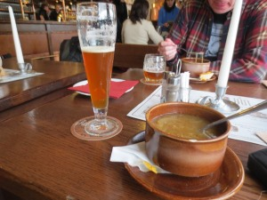 Sv Norbert IPA and beer soup at Strahov Monastery