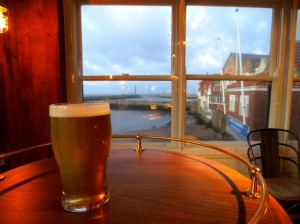 Sea views and beer at Abbey Wharf, Whitby