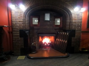 Open fire at The Station Inn Whitby