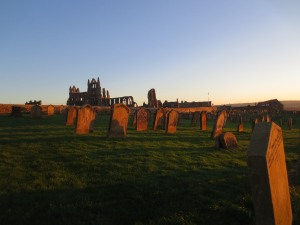 St Mary's Church graveyard and Whitby Abbey, Whitby