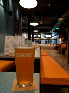 Bundobust Manchester pint glass view