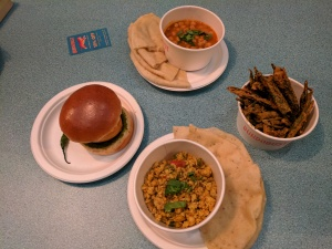 Vegetarian food at Bundobust Manchester
