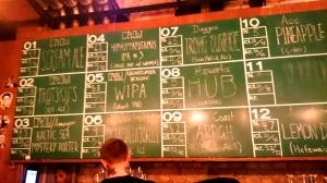 Crowbar beer list, Oslo