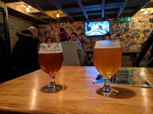 Beer at Hops Beer Bar, a craft beer pub in Budapest