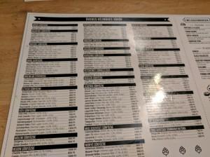 Craft beer bottle list at Legfelsobb in Budapest