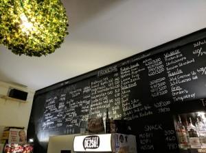 Beer llist at Neked Csak Deszo in Budapest