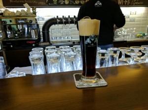Craft beer at Ogre Basci, Budapest