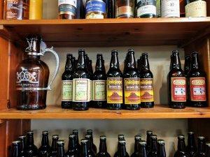 Beer at St Aidan's Winery, Lindisfarne