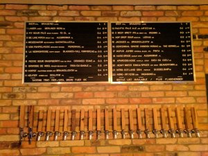 Beer list at Muted Horn