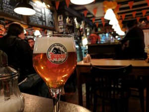 Beer at Cafe de Gaeper in Amsterdam