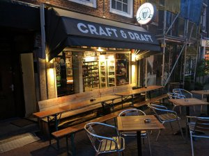 Outdoor seating at Craft and Draft, Amsterdam