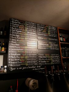 Beer list at Craft and Draft in Amsterdam