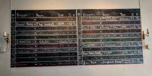 Beer board at Fermentoren Aarhus
