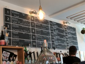 Voodoo tap takeover beer list at Mikkeller Bar Aarhus