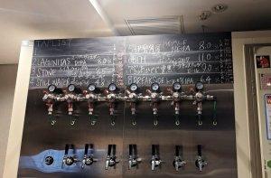 Draught beer at Beer-Ma Kanda, Tokyo