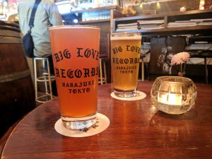 Beer at Big Love Records, Tokyo