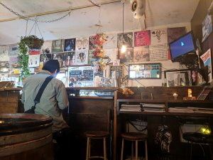 Bar area at Big Love Records, Tokyo