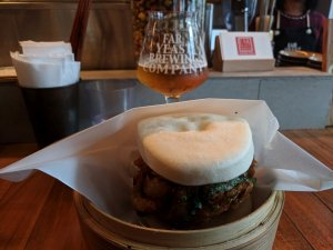 Beer and bao at Far Yeast