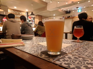 Craft beer at Haburashi Beer and Potato in Tokyo