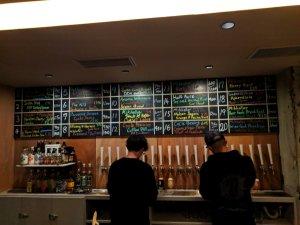 Beer list at Mikkeller Tokyo