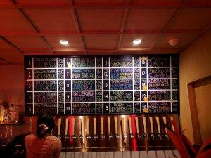 Beer board at OL Tokyo
